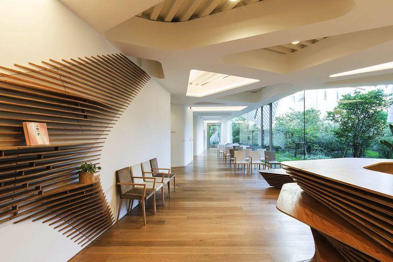 El Hospital Verde diseñado por Kengo Sakai e inaugurado en 2017 con muebles a medida