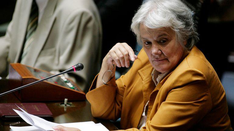 Lucia Topolansky en el Senado