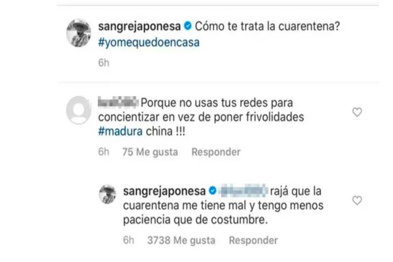 La dura respuesta de la China Suárez a una usuaria que le reclamó madurez
