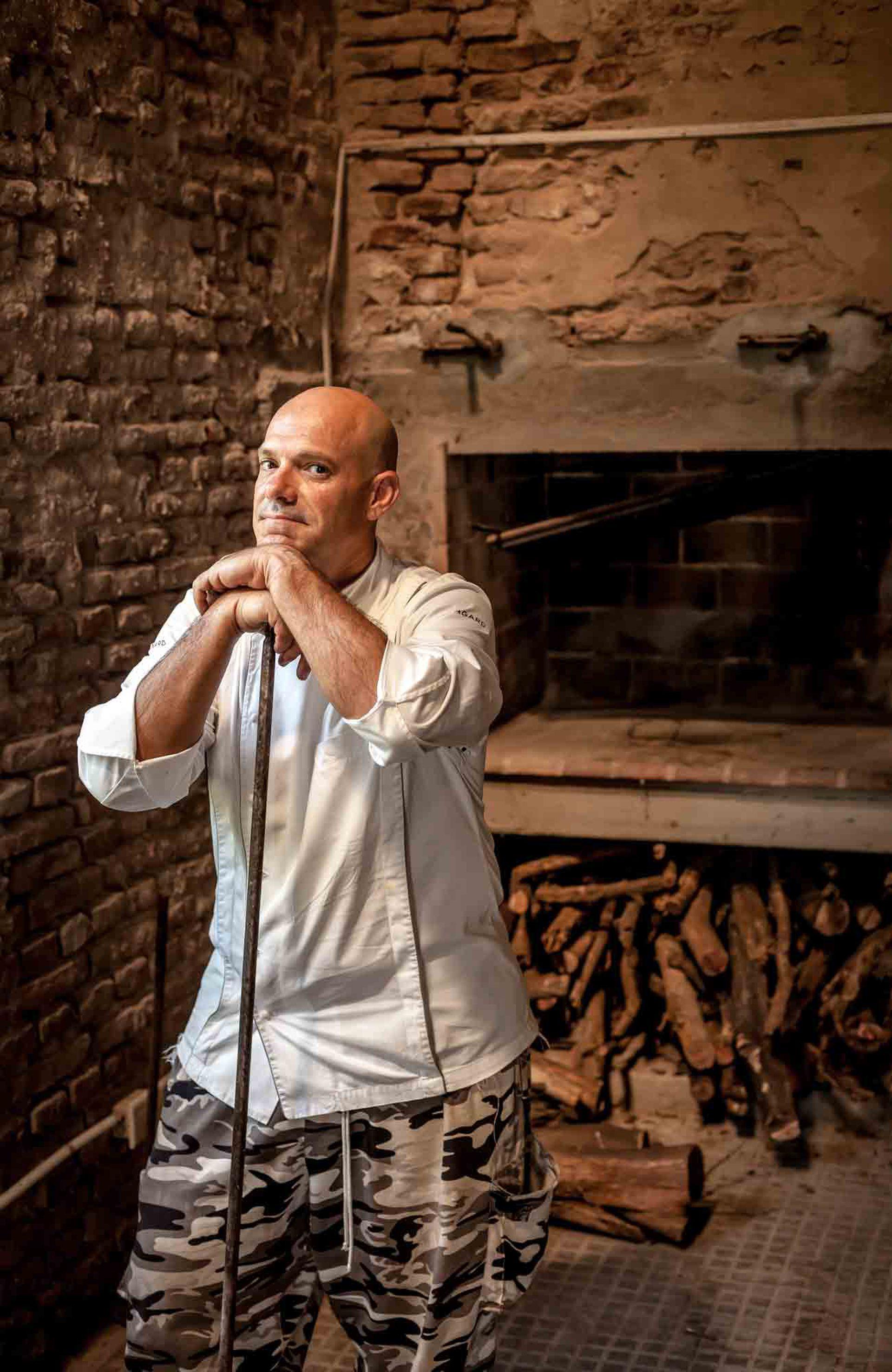 Javier Araujo, madrileño aquerenciado a la pampa húmeda, a cargo de la cocina de La Pampeana.