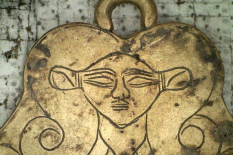 Un colgante de oro
