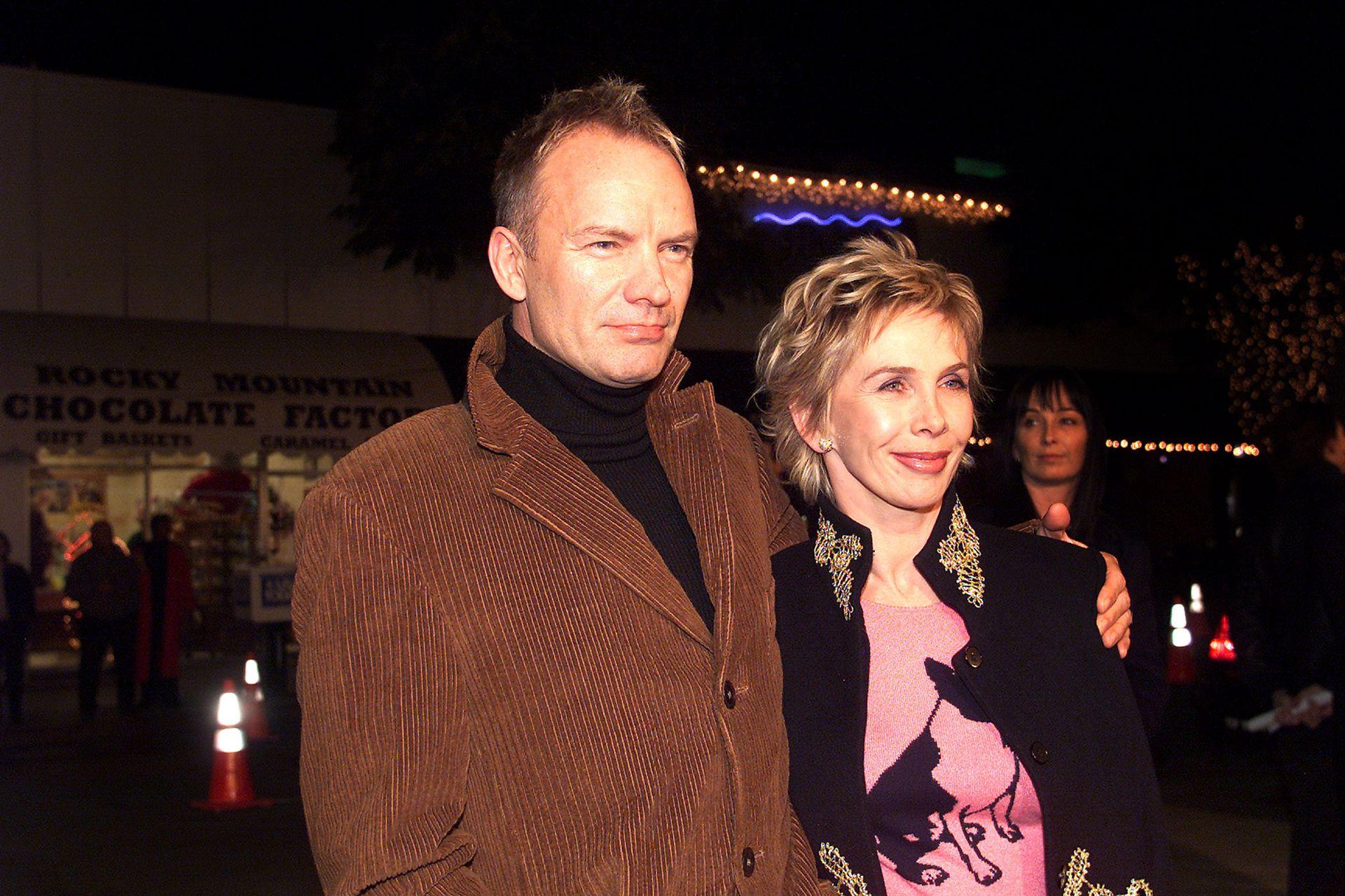Sting y Trudie, una pareja que tuvo un comienzo difícil