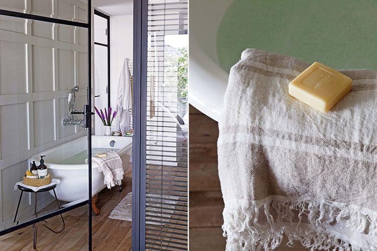 Distinción natural: Un baño pensado como centro de relax