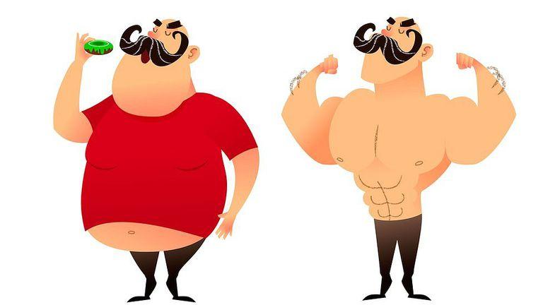 Los hombres tienen más masa muscular, por eso les queda un poco más fácil adelgazar