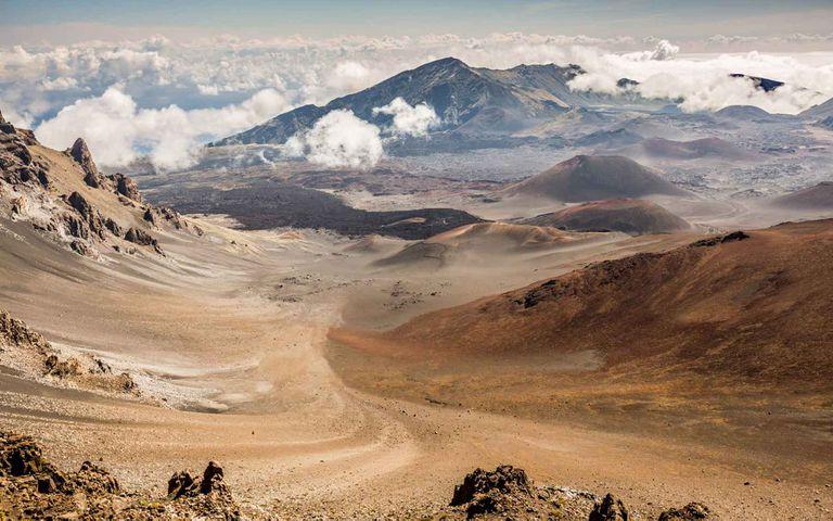 El volcán Haleakala en Maui