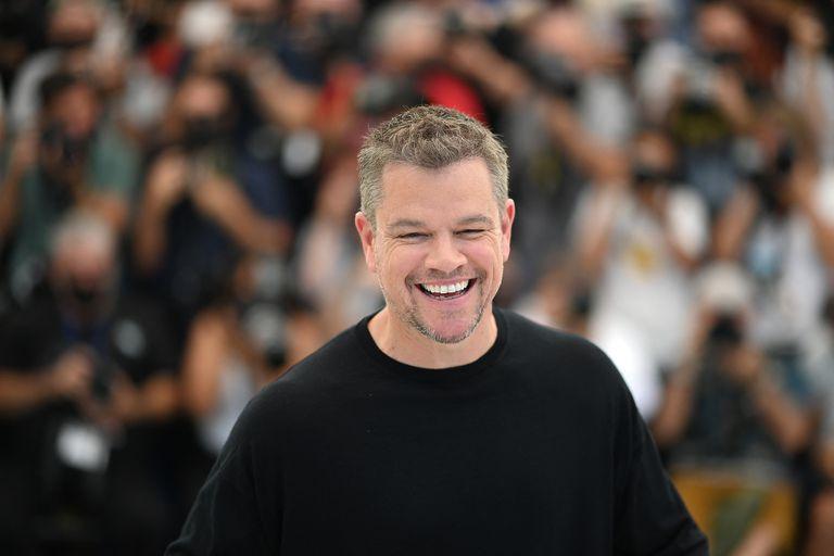 Matt Damon, a pura sonrisa, este viernes en el Festival de Cannes