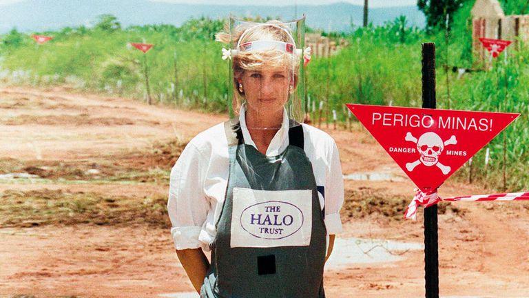 En uno de sus últimos viajes, visitó Angola para llamar la atención sobre los campos minados junto a The Halo Trust