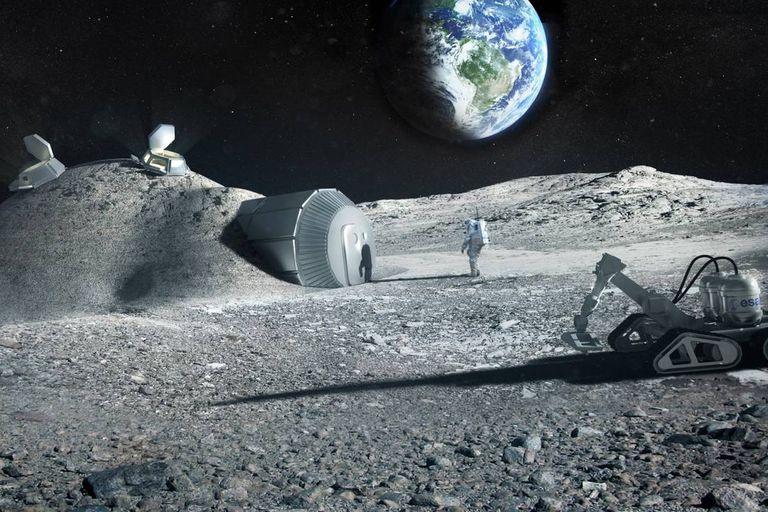 Proponen usar orina de astronautas como material para construir bases en la Luna