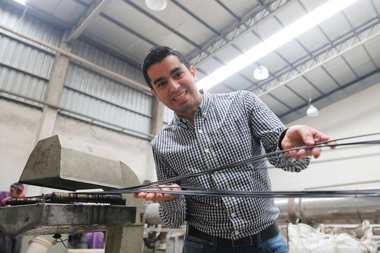 En pleno proceso de reciclado en la planta de Siclo Rural, en Caseros