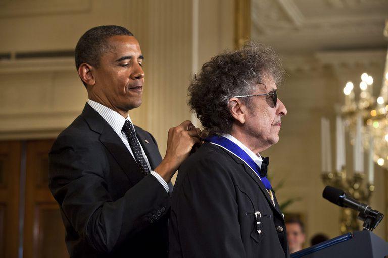 Con Barack Obama, cuando el expresidente de los Estados Unidos le entregó la Medalla de la Libertad, en mayo de 2012