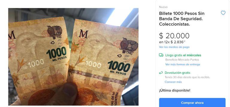 Billetes: el detalle por el que $1000 podrían convertirse en $20.000