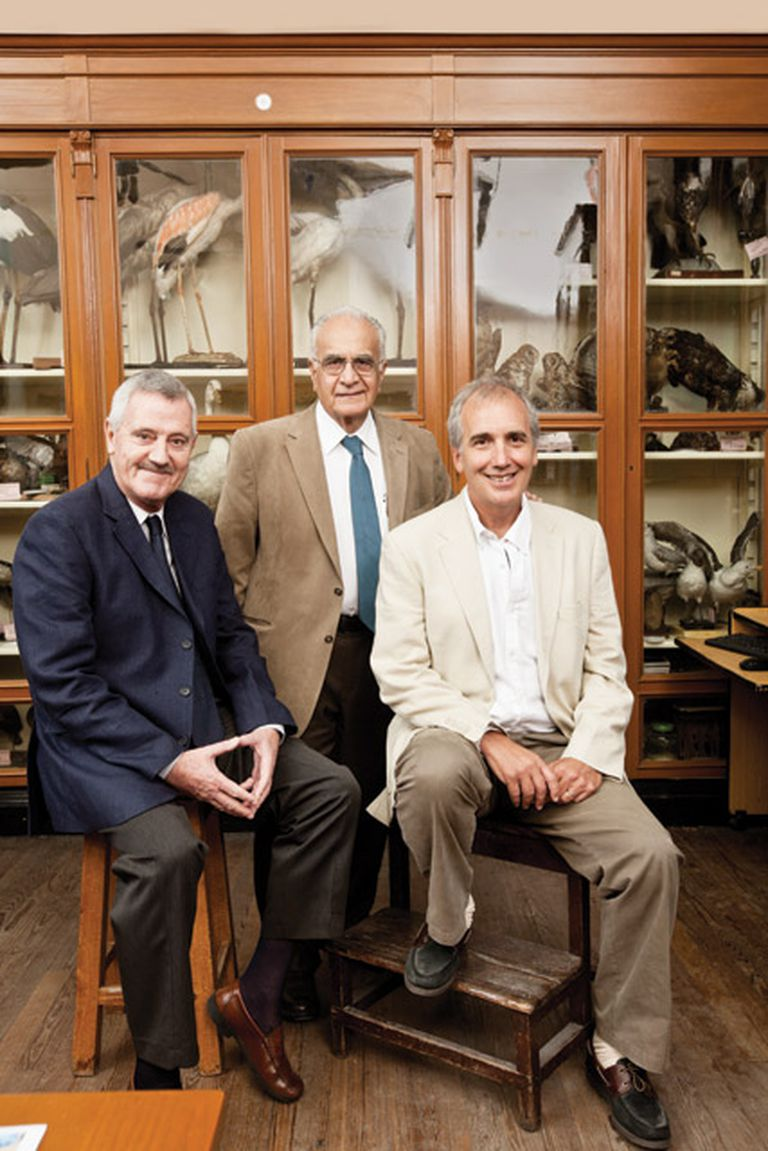 Cuna de científicos. Florín, Stamboulian y Kornblihtt en el gabinete de zoología que vio nacer su vocación
