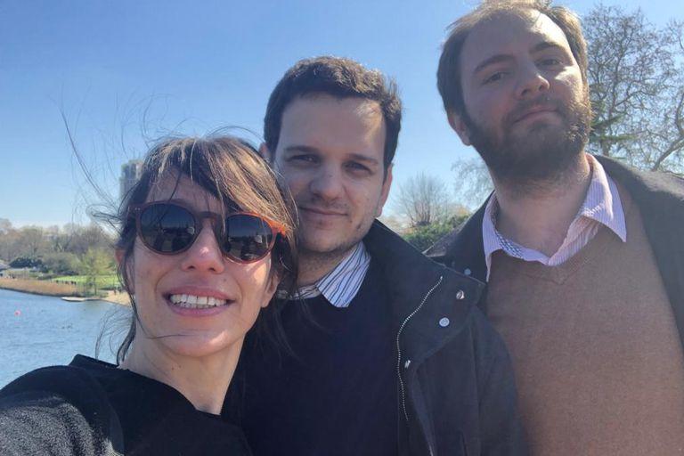 Florencia Juri, Andrés Okoskyn y Camilo Carballo