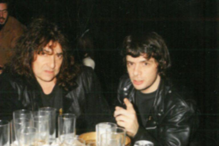 Vasos vacíos: Pappo con Juanse en Ku, en una noche que duró muchos años.
