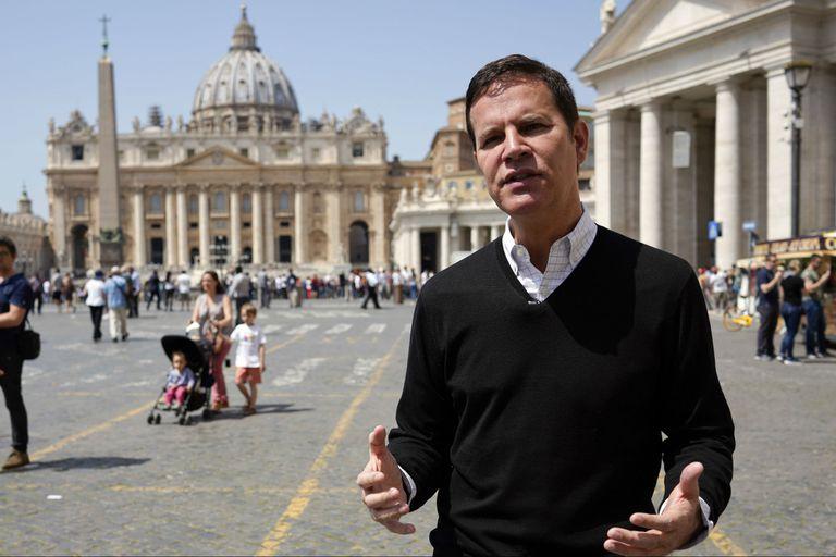 Juan Carlos Cruz, a su llegada al Vaticano, en 2018