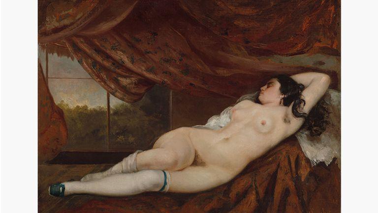 Femme nue couchée, de Gustave Courbet