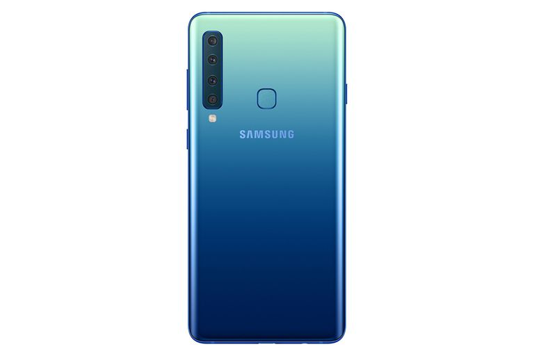 El Galaxy A9 es el modelo más destacado de Samsung por sus cuatro cámaras traseras; con una pantalla de 6,3 pulgadas, estará disponible en azul, negro y rosa