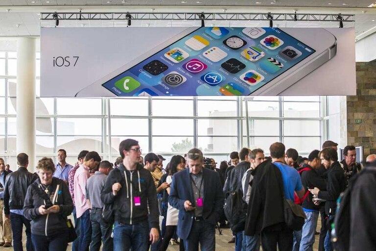 El anuncio del iOS 7 en la última edición de la conferencia de desarrolladores de Apple el pasado junio en San Francisco