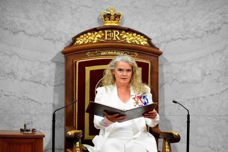 La gobernadora general de Canadá y representante de la reina Isabel II de Inglaterra, Julie Payette, se vio forzada a dimitir
