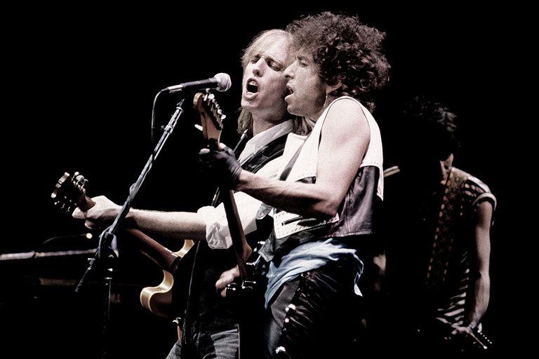 Petty con Bob Dylan, en 1986