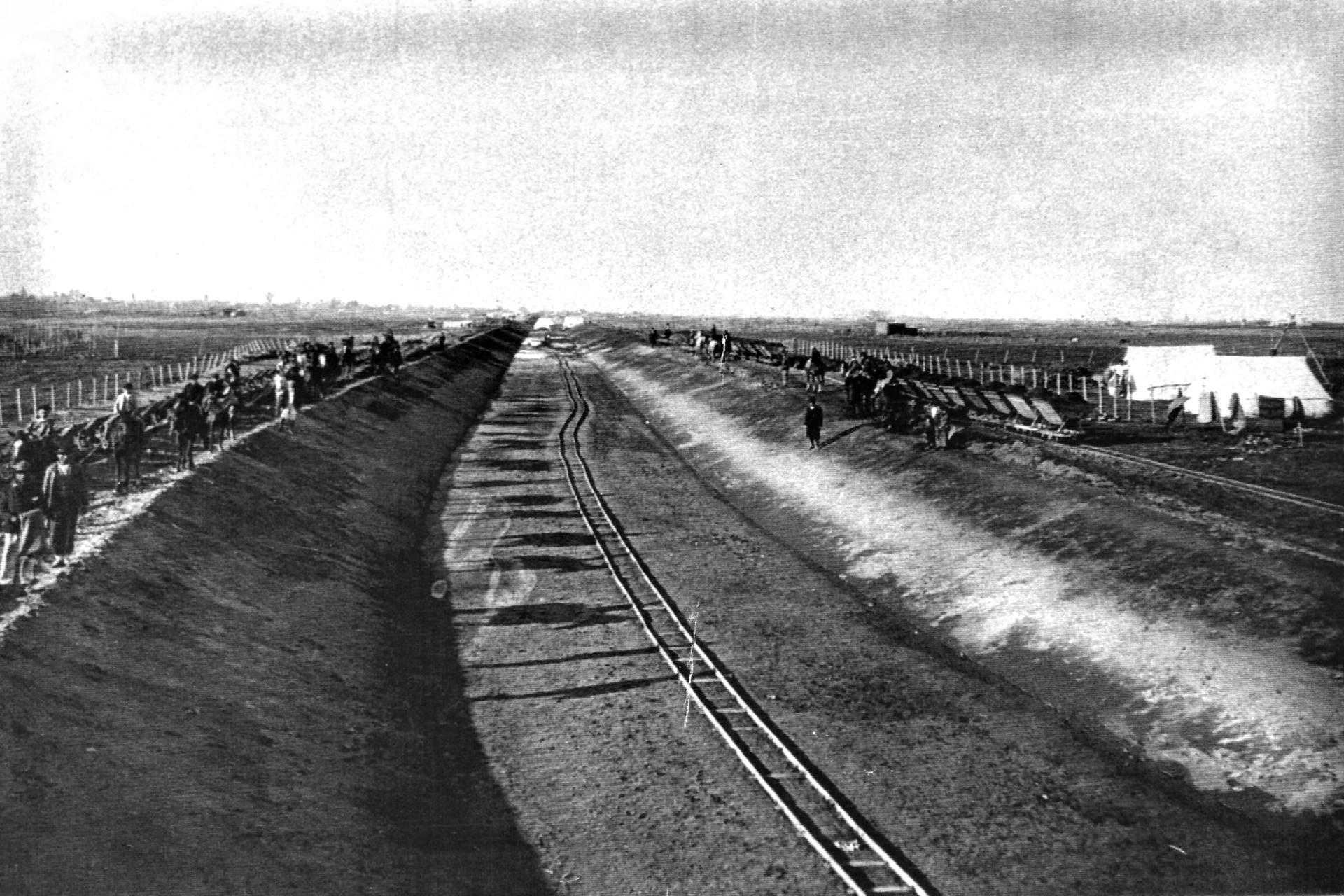 Las obras del Canal del Norte en 1906