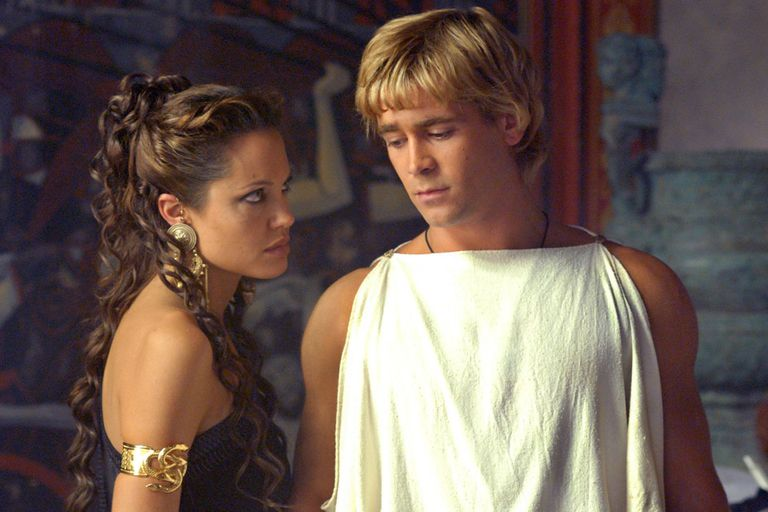 Angelina Jolie y Colin Farrel en una escena de Alexander, de 2004
