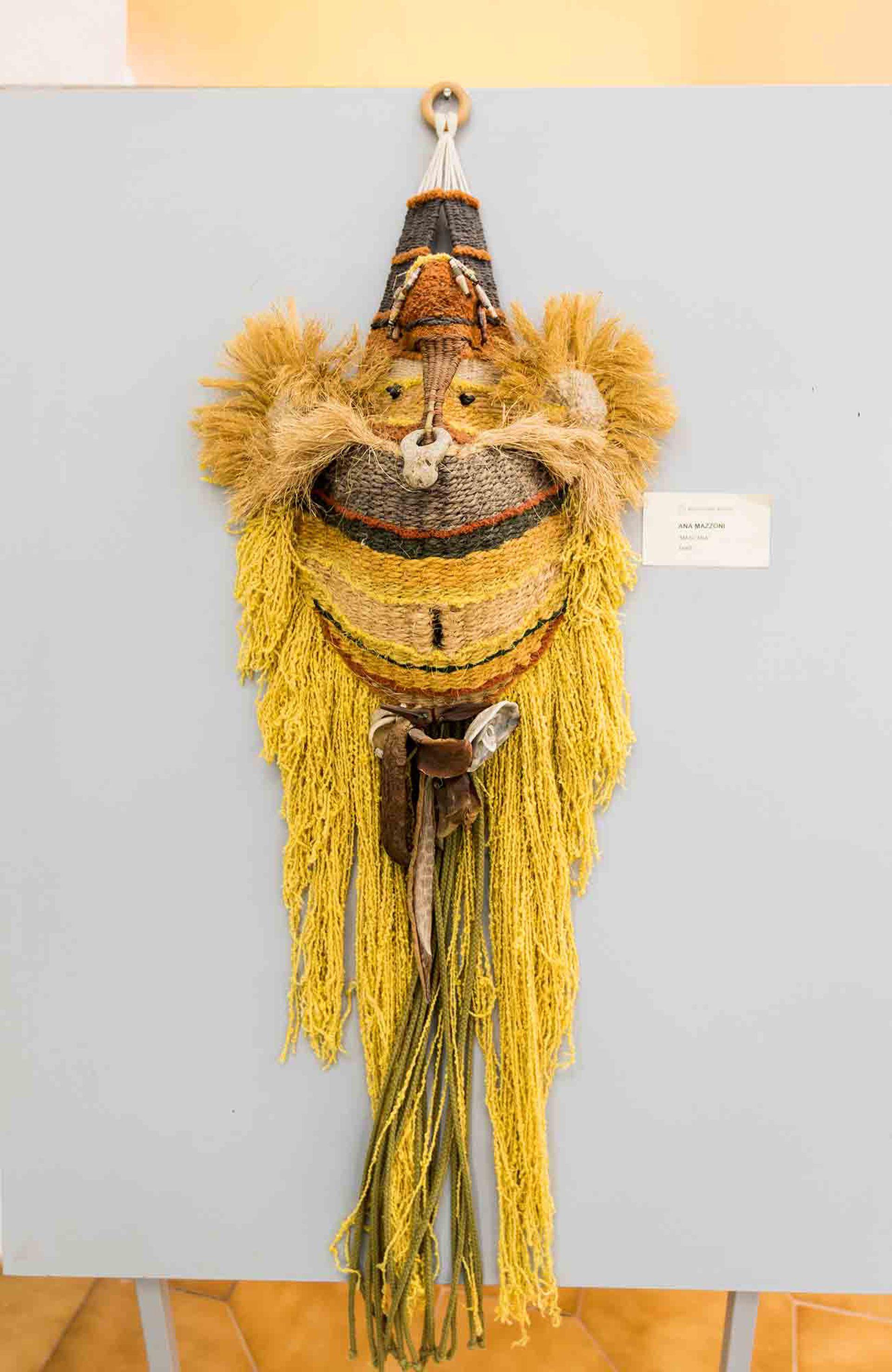 Máscara, de Ana Mazzoni, en el museo regional de Morteros.