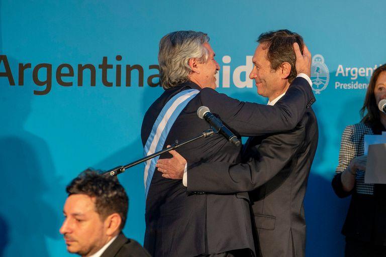 10/12/2019. Traspaso presidencial, asume como presidente Alberto Fernandez junto a Cristina Fernandez de Kirchner como su vice. Jura de los Ministros del Gabinete, Gustavo Beliz