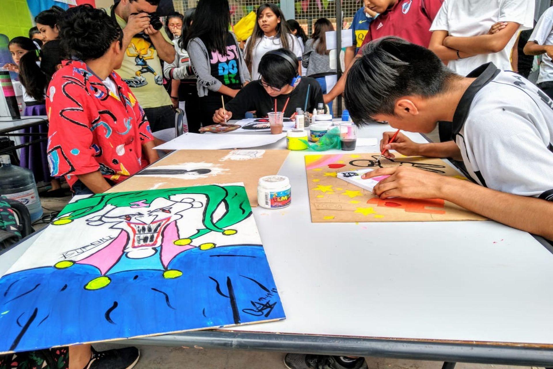 Feria de Saberes Juveniles en el Secundario N°54, de Alto Comedero, Jujuy