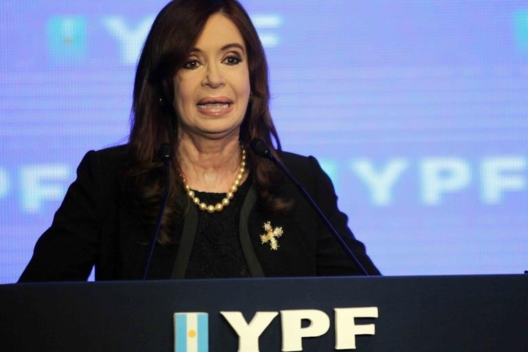 Cristina Kirchner el día de la presentación del plan para YPF