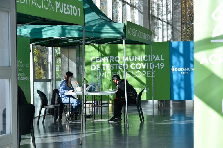 Nuevo centro de testeos, en Vicente López