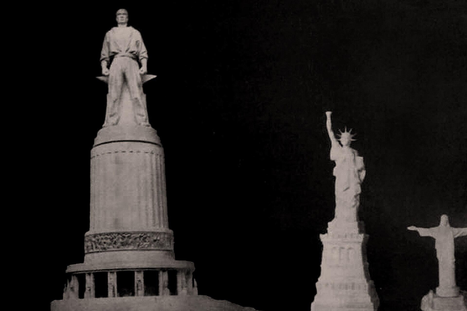 El monumento sería 46 metros más alto que la Estatua de la Libertad y casi 100 metros más que el Cristo Redentor