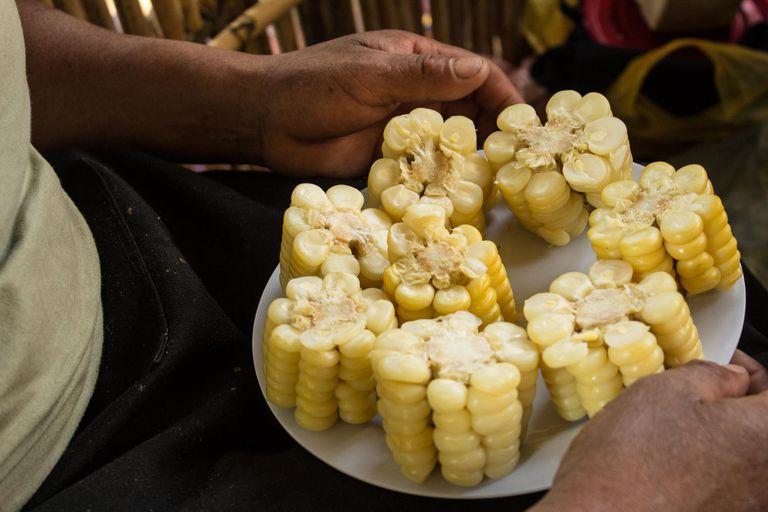 Mote, maíz andino. Foto Luis Agote