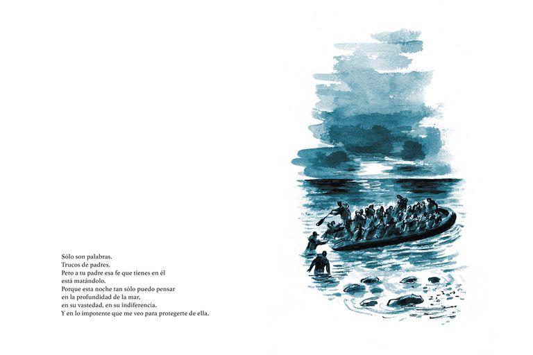"""""""Este libro está dedicado a los miles de refugiados que han perecido en el mar cuando huían de la guerra y la persecución"""", expresó Hosseini, que conoce por experiencia propia el exilio y el desarraigo"""