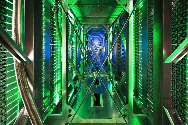 Una vista de un centro de datos de Google en Mayes County, Oklahoma, Estados Unidos