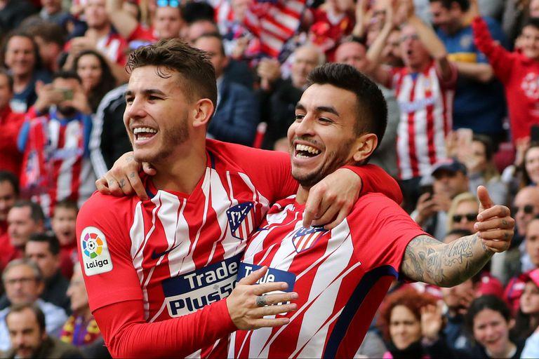 Con un gol de Ángel Correa, Atlético Madrid ganó y postergó el festejo culé