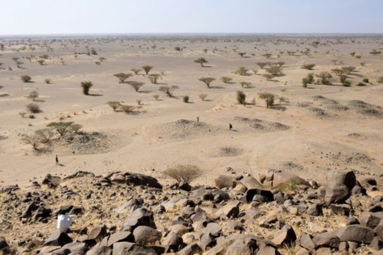 Los arqueólogos señalaron todos los monumentos funerarios reconocibles que eran visibles en el paisaje y revelaron la inesperada cantidad de qubbas