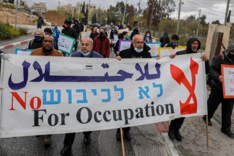 Los ciudadanos árabes de Israel suelen protestar contra la ocupación de los Territorios Palestinos