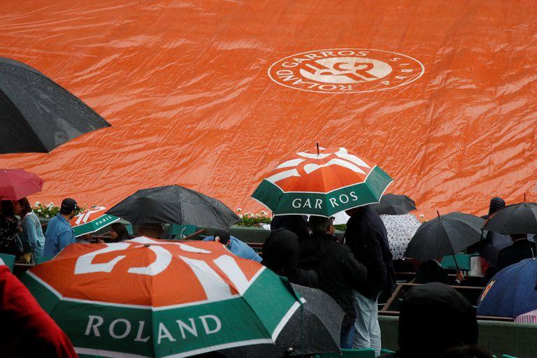 Roland Garros: la lluvia obligó a suspender la jornada