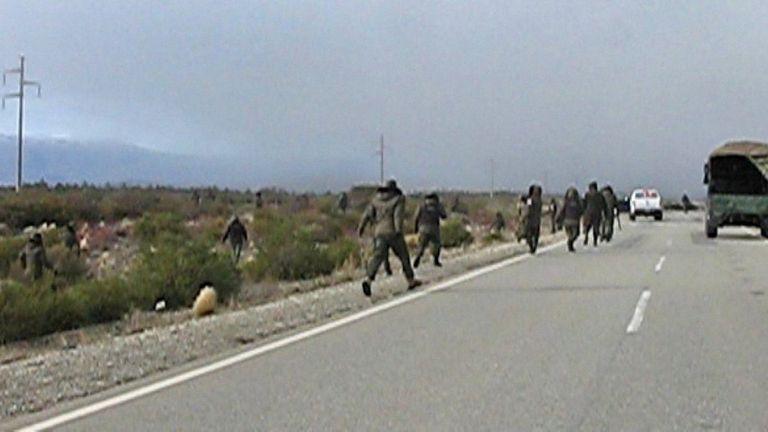 Imagen del video del operativo de Gendarmería del 1° de agosto