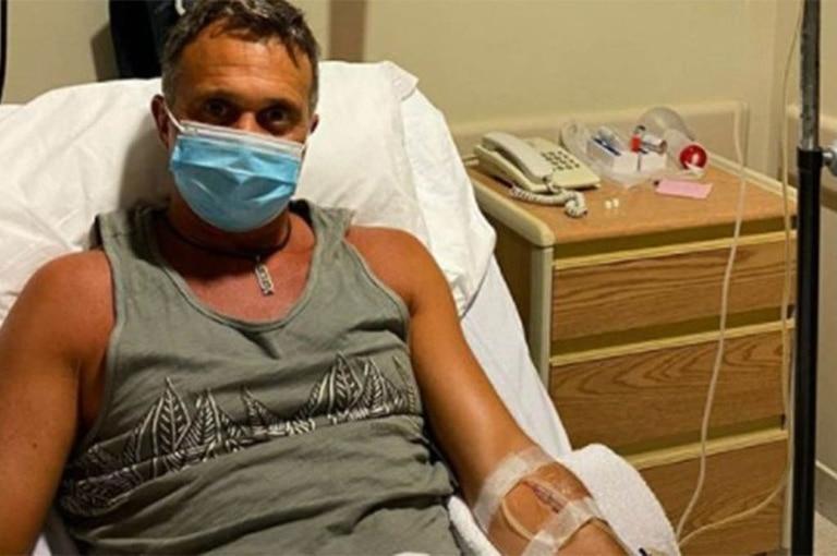 Sergio Lapegüe desde la sala de terapia intensiva