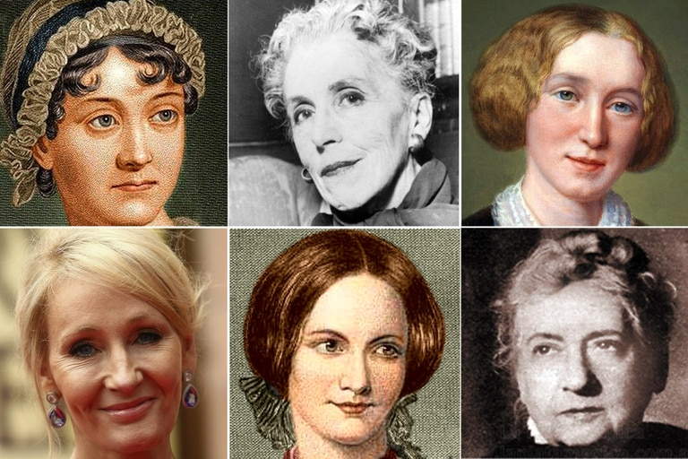Jane Austen, Isak Dinesen, George Eliot, J. K. Rowling, Charlotte Bronte, Emma de la Barra