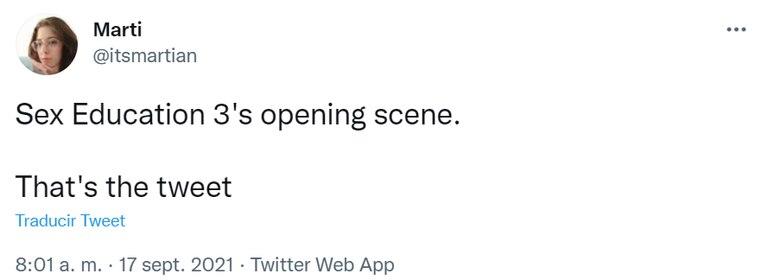 """""""Ese es el tuit"""", la idea con la que una usuaria sintetizó lo impactante de la tercera temporada de Sex Education"""