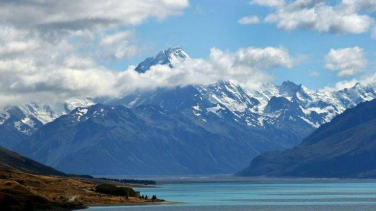 Monte Cook, la montaña más alta de Nueva Zelanda y también la del continente Zelandia