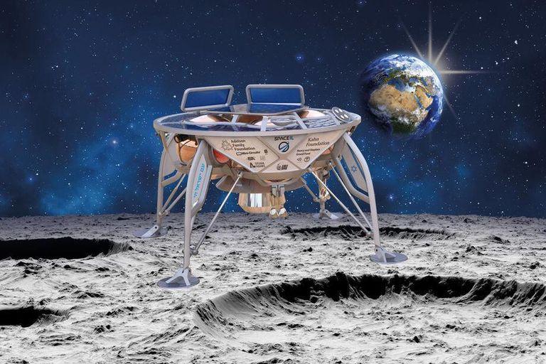 Beresheet, la sonda israelí que se estrelló contra el suelo lunar