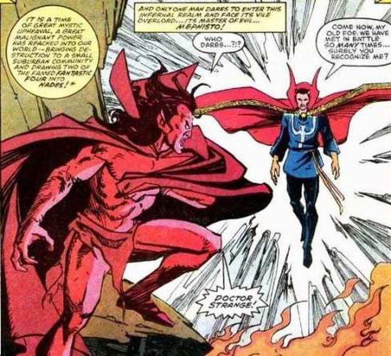 Mephisto contra Doctor Strange, una postal que quizá llegué al cine