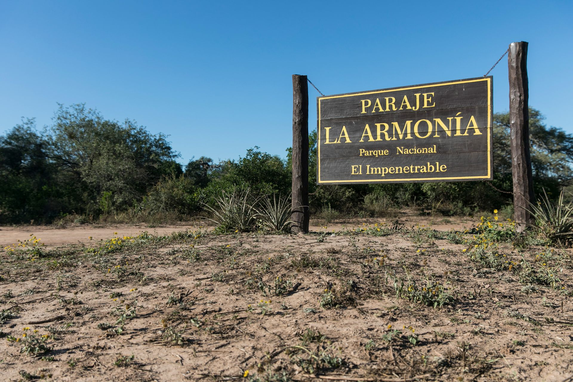 El Paraje La Armonía oficia de base de servicios para el PN El Impenetrable