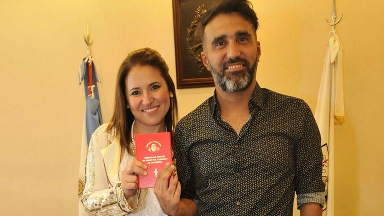 Fernanda Iglesias se casó por civil con Pablo Nieto
