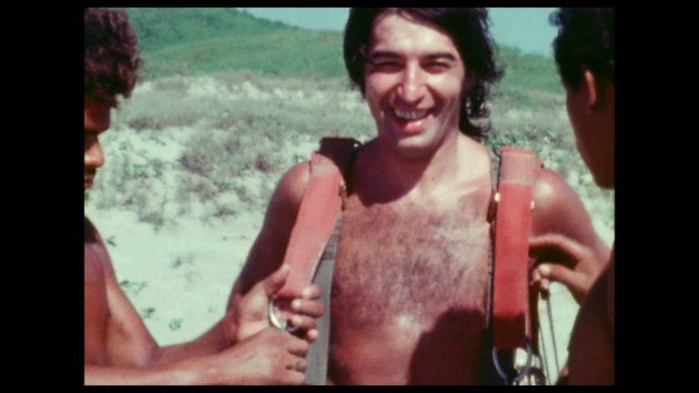 Sandro de vacaciones, en uno de los pasajes del film
