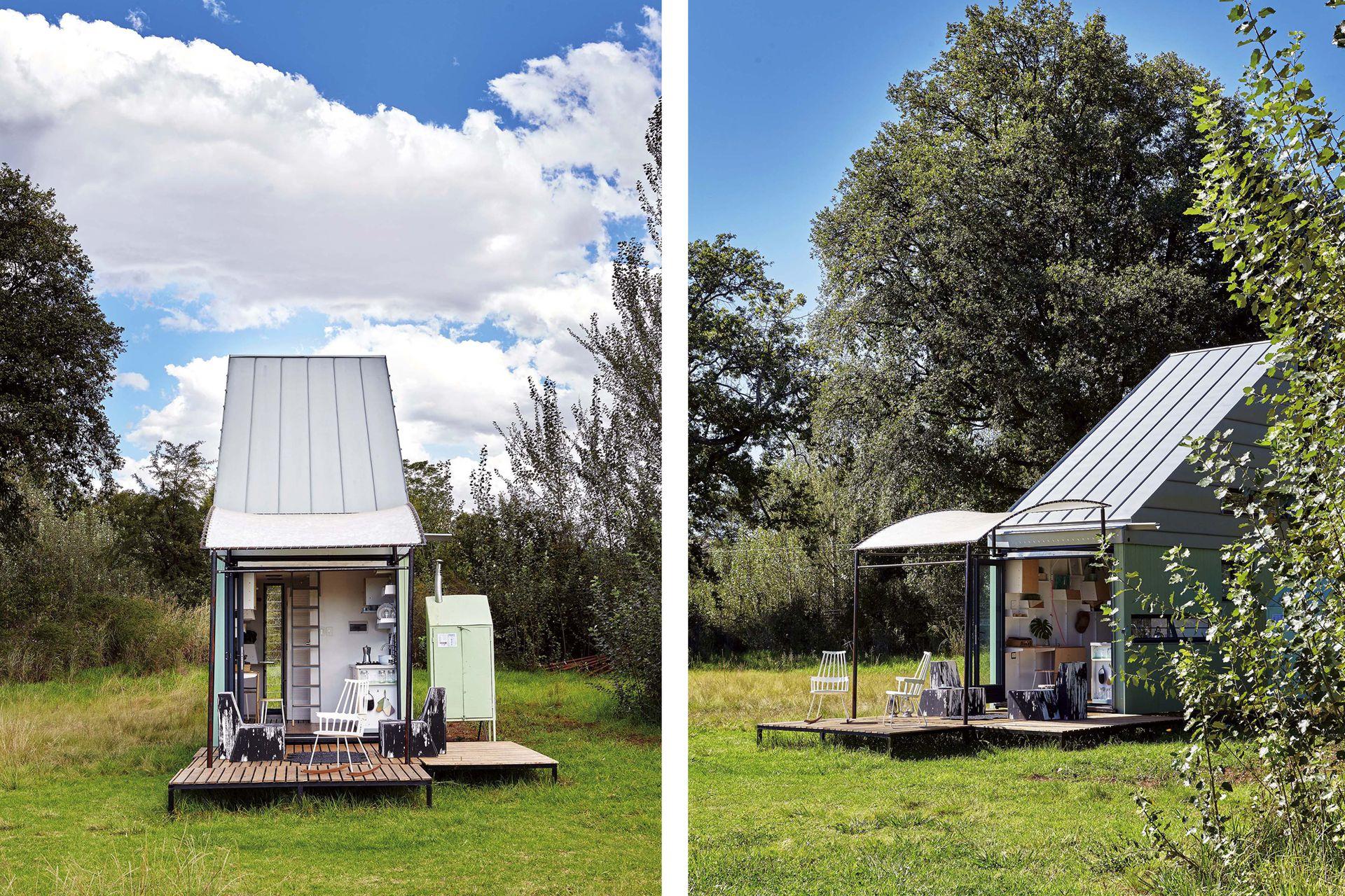 El deck de madera –dividido en módulos– se puede ubicar de distintas maneras, según el espacio disponible en el terreno.